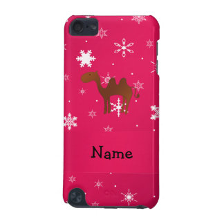 Personalized name camel pink snowflakes iPod touch 5G covers