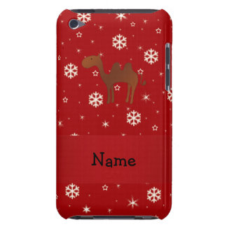 Personalized name camel red snowflakes iPod touch cover