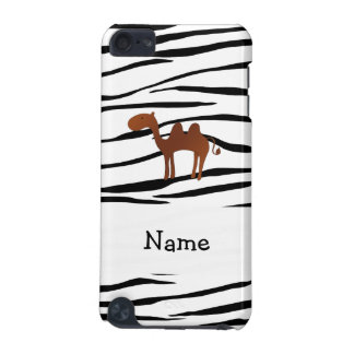 Personalized name camel zebra stripes iPod touch 5G covers