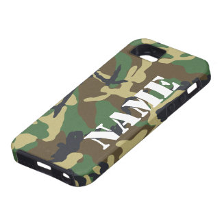 Personalized Name Camouflage Pattern Tough iPhone 5 Case