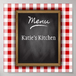 Personalized Name Chalkboard Kitchen Art Poster