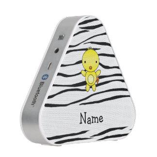 Personalized name chicken zebra stripes speaker