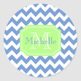 Personalized name classic round sticker