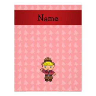 Personalized name cowboy red christmas trees full color flyer