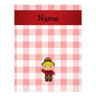 Personalized name cowboy red white checkers flyer design