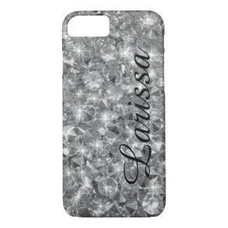 personalized_name crystals texture iPhone 7 case