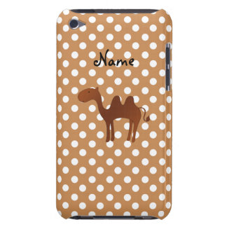 Personalized name cute camel brown polka dots iPod touch cover