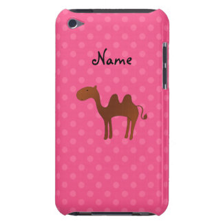 Personalized name cute camel pink polka dots iPod touch cover