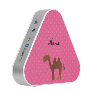 Personalized name cute camel pink polka dots speaker