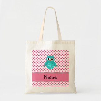 Personalized name cute owl budget tote bag