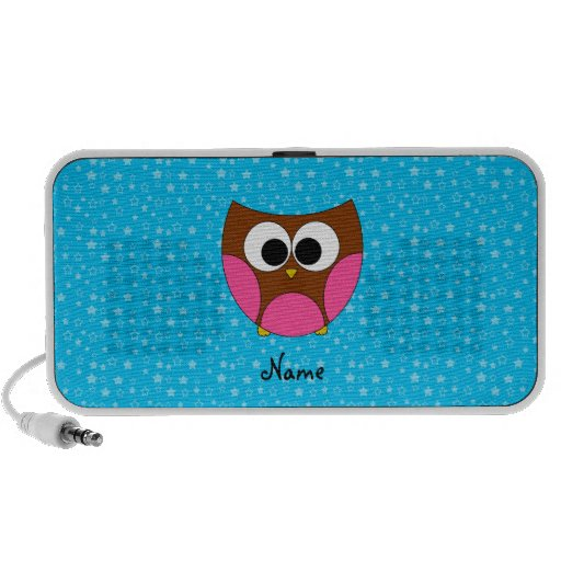 Personalized name cute owl laptop speaker