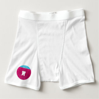 Personalized name cute tooth pink glitter boxer briefs