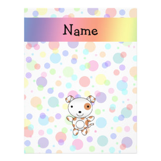 Personalized name dog rainbow polka dots custom flyer