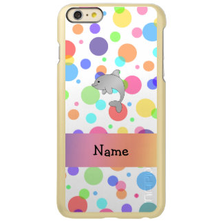 Personalized name dolphin rainbow polka dots incipio feather® shine iPhone 6 plus case