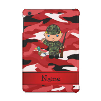 Personalized name duck hunter red camouflage
