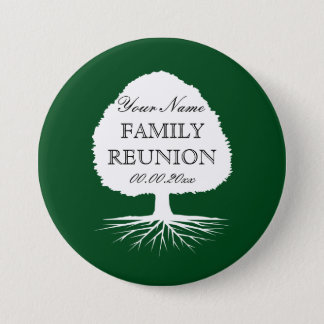 Personalized name family reunion party buttons