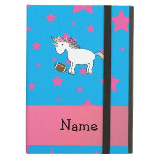 Personalized name football unicorn stars iPad air case