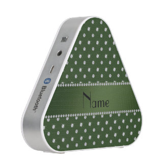 Personalized name forest green diamonds