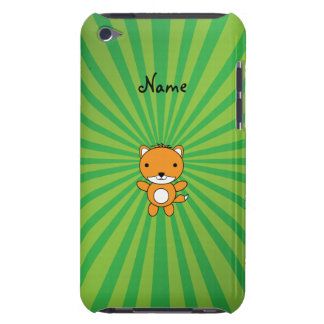 Personalized name fox green sunburst iPod touch covers