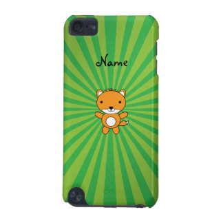Personalized name fox green sunburst iPod touch (5th generation) case