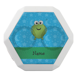 Personalized name frog blue stars and moons