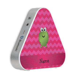 Personalized name frog pink chevrons