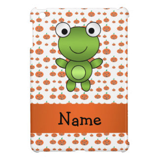 Personalized name frog pumpkins pattern iPad mini cover