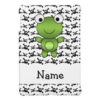Personalized name frog skulls pattern iPad mini covers