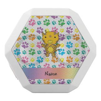 Personalized name giraffe rainbow paws white boombot rex bluetooth speaker