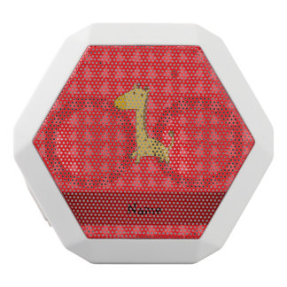 Personalized name giraffe red christmas trees white boombot rex bluetooth speaker