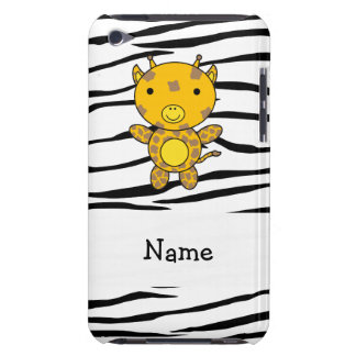 Personalized name giraffe zebra stripes barely there iPod covers