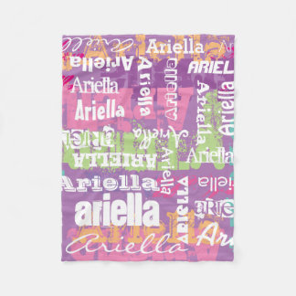 Personalized Name Girls Blanket