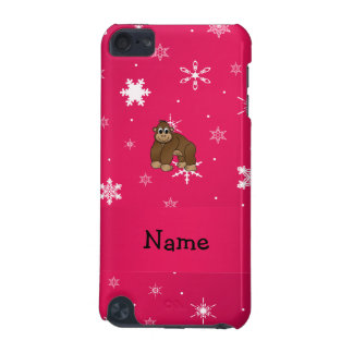 Personalized name gorilla pink snowflakes iPod touch 5G cover