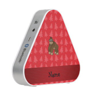 Personalized name gorilla red christmas trees