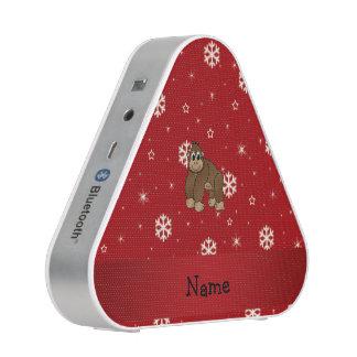 Personalized name gorilla red snowflakes