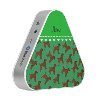 Personalized name green border terrier dogs