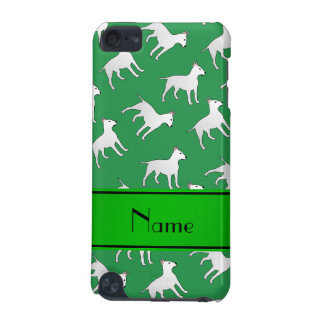 Personalized name green bull terrier dogs iPod touch (5th generation) covers