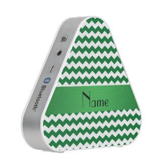 Personalized name green chevrons speaker