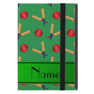 Personalized name green cricket pattern cases for iPad mini