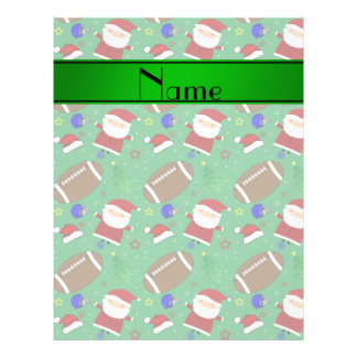Personalized name green football christmas custom flyer