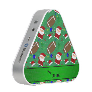 Personalized name green football christmas