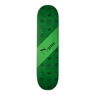 Personalized name green geek pattern skateboards