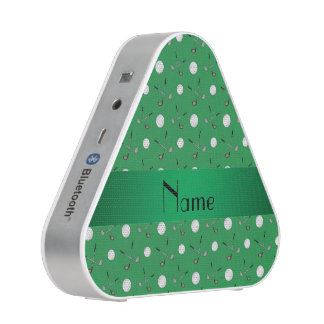 Personalized name green golf balls speaker
