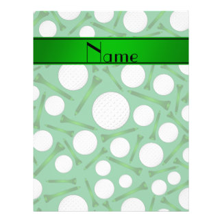 Personalized name green golf balls tees full color flyer
