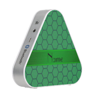 Personalized name green honeycomb