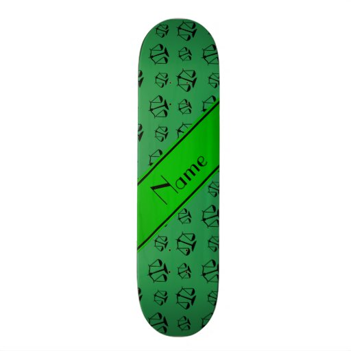 Personalized name green justice scales skate deck