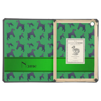Personalized name green Kerry Blue Terrier dogs iPad Air Covers