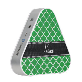 Personalized name Green moroccan Bluetooth Speaker