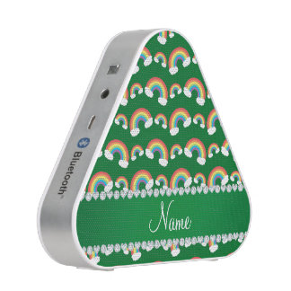Personalized name green rainbows pattern