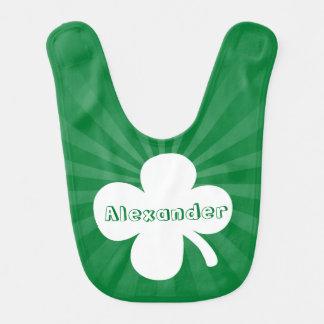 Personalized Name Green Saint Patrick's Day Bib